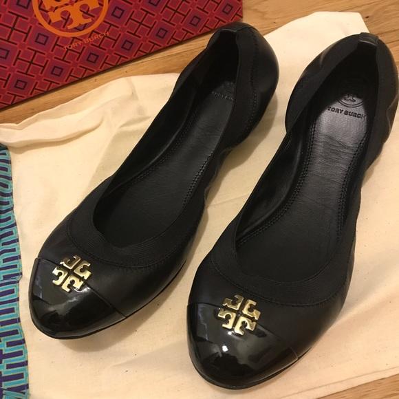 47c9bfc2d98521 Tory Burch Jolie Ballet Flat - never worn!
